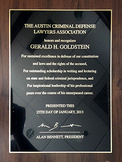 Austin Criminal Defense Lawyers Association - Excellence Award