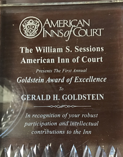 American Inns of Court - The William S. Sessions American Inn of Court - Goldstein Award of Excellence