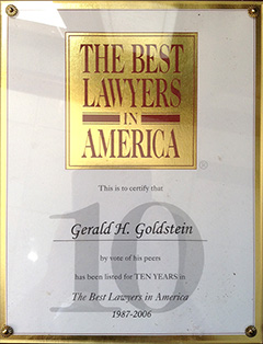Best Lawyers in America - 10 Years