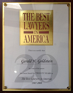 Best Lawyers in America - 20 Years