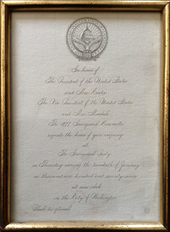 Carter Presidential Inauguration Invite