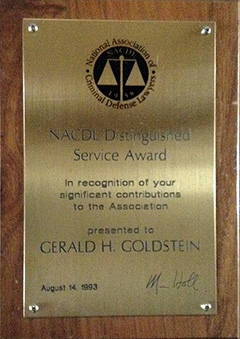 NACDL - Distinguished Service Award