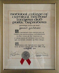 National College of Criminal Defense Lawyers and Public Defenders - Professor of Criminal Law