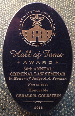 San Antonio Bar Association - Hall of Fame