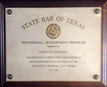 State Bar of Texas - Professional Development: Advanced Criminal Law