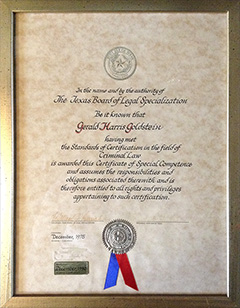 Texas Board of Legal Specialization - Criminal Law Certification