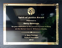 TCDLA - Spirit of Justice Award