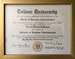 Tulane University - Bachelor's of Business Administration
