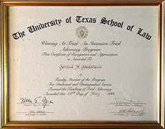 University of Texas - CLE Faculty: Winning at Trial