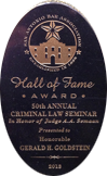 San Antonio Bar Association - Hall of Fame - Gerald Goldstein