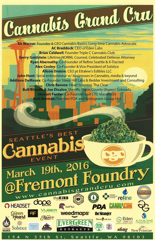 Gerry Goldstein to Speak at Upcoming Cannabis Grand Cru Event