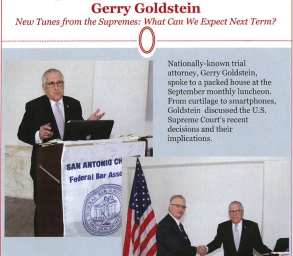 Gerry Goldstein FBA Luncheon