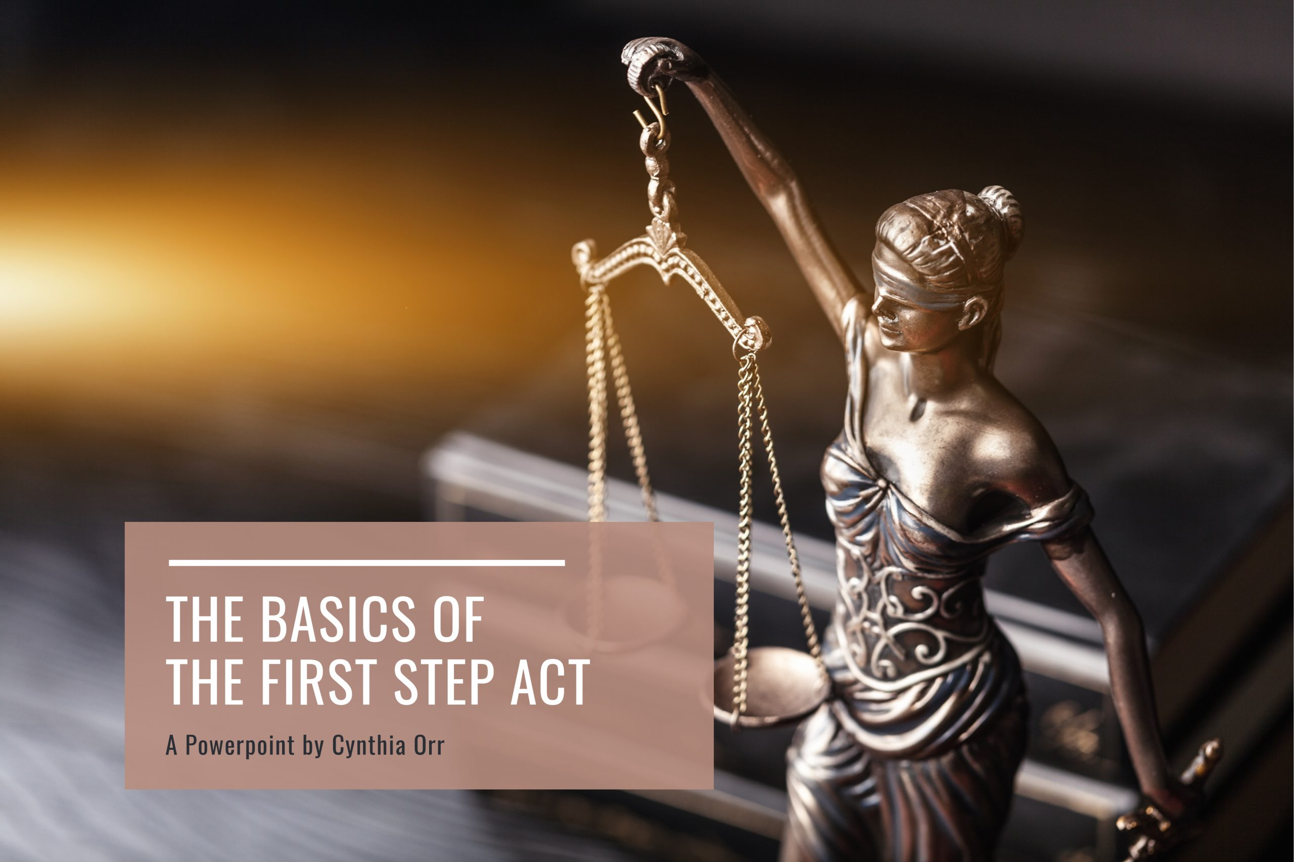The Basics of the First Step Act